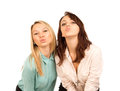 Mischievous young girls looking for a kiss Royalty Free Stock Image