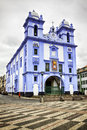 Misericordia church angra do heroismo terceira igreja da blue at island azores Stock Images