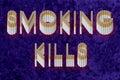 Mises à mort de fumage Photo stock