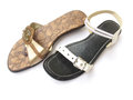 Mismatch footwear Royalty Free Stock Photo