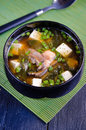 Miso soup japanese food in a bowl Stock Image