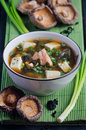 Miso soup japanese food in a bowl Royalty Free Stock Image