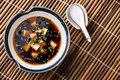 Miso Soup with tofu, seaweed and sesame Royalty Free Stock Photo