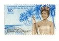 Miss Haiti 1960 stamp Royalty Free Stock Photo