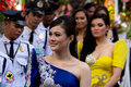 Miss philippines binibining pilipinas joins santacruzan in manila metro may annual procession practiced by the catholic church Royalty Free Stock Photography