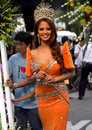 Miss philippines binibining pilipinas joins santacruzan in manila metro may annual procession practiced by the catholic church Stock Photography