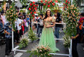 Miss philippines binibining pilipinas joins santacruzan in manila metro may annual procession practiced by the catholic church Royalty Free Stock Photos