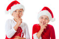 Miss santas saying be quiet Stock Images
