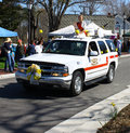 Miss walkerton gloucester virginia april in the daffodil parade on april in gloucester virginia in its th year the parade heralds Stock Photo