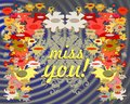 Miss you on a drop of water Royalty Free Stock Photo