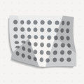 Misshapen dots abstract geometric background. A crumpled sheet of paper with dots. Vector illustration.