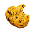 Missing bite of cookie Royalty Free Stock Photo