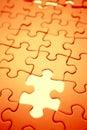 Missing jigsaw piece Royalty Free Stock Photo