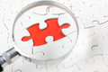Missing jigsaw puzzle pieces. Business concept. Compliting final task Royalty Free Stock Photo