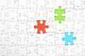 Missing jigsaw puzzle pieces. Business concept Royalty Free Stock Photo