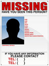 Missing Person Poster Stock Images