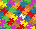 Missing puzzle piece Royalty Free Stock Photography