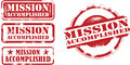 Mission Accomplished Stamps Royalty Free Stock Photo