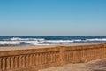 Mission Beach Boardwalk Seawall after 2016 Restoration Royalty Free Stock Photo