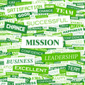 Mission concept illustration graphic tag collection wordcloud collage Stock Images