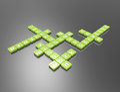 Mission crossword concept d render Stock Photos