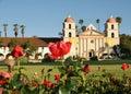 Mission Red Roses Santa Barbara Royalty Free Stock Photo