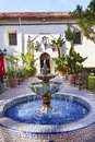 Mission san buenaventura ventura california mexican tile fountain founded by father junipero serra named for saint bonaventure Royalty Free Stock Images