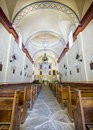 Mission san jose chapel interior view of the ornate sanctuary in antonio tx Royalty Free Stock Photo