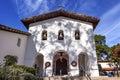 Mission San Luis Obispo de Tolosa Facade Bells Cross California Royalty Free Stock Photo