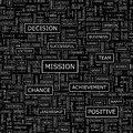 Mission seamless pattern word cloud illustration Stock Photo