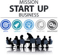 Mission start up business launch team success concept Royalty Free Stock Photo