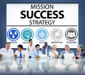 Mission Success Strategy Achievement Strategy Concept Royalty Free Stock Photo