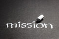 Mission word handwritten with chalk Royalty Free Stock Photography