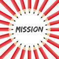 Mission word with pencil background illustration of Royalty Free Stock Images