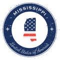 Mississippi circular patriotic badge.