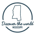 Mississippi Map Outline. Vintage Discover the. Royalty Free Stock Photo