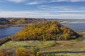 Mississippi River In Autumn Royalty Free Stock Photo