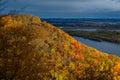 Mississippi river bluff, autumn