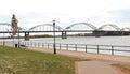 Mississippi River Bridge Royalty Free Stock Photo