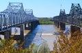 Mississippi River bridges Royalty Free Stock Photo