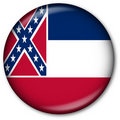 Mississippi State Flag Button Stock Image