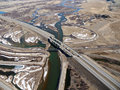Missouri Headwaters and Freeway Aerial Stock Photography