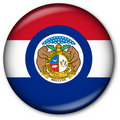 Missouri State Flag Button Royalty Free Stock Image