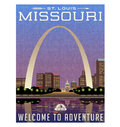 Missouri, United States travel poster or luggage sticker