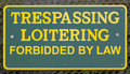 Misspelling on NO TRESPASSING Sign. Royalty Free Stock Photo