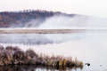 Mist of lake in the early morning Royalty Free Stock Photo