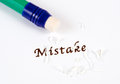 Mistake an abstract look at a concept Royalty Free Stock Photography