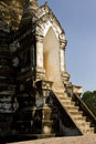 Misterious entrance to ancient temple in thailand Stock Photo