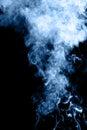 Mistery beautiful smoke on black background Stock Photography
