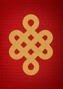 Mistic Knot on Red Paper Royalty Free Stock Images